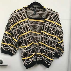 Boxy Knit Stripe Cardigan